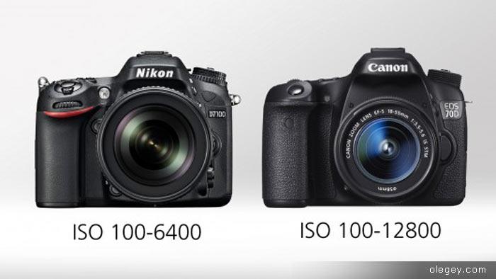 Какая фото-камера лучше? Nikon D7100 или Canon 70D
